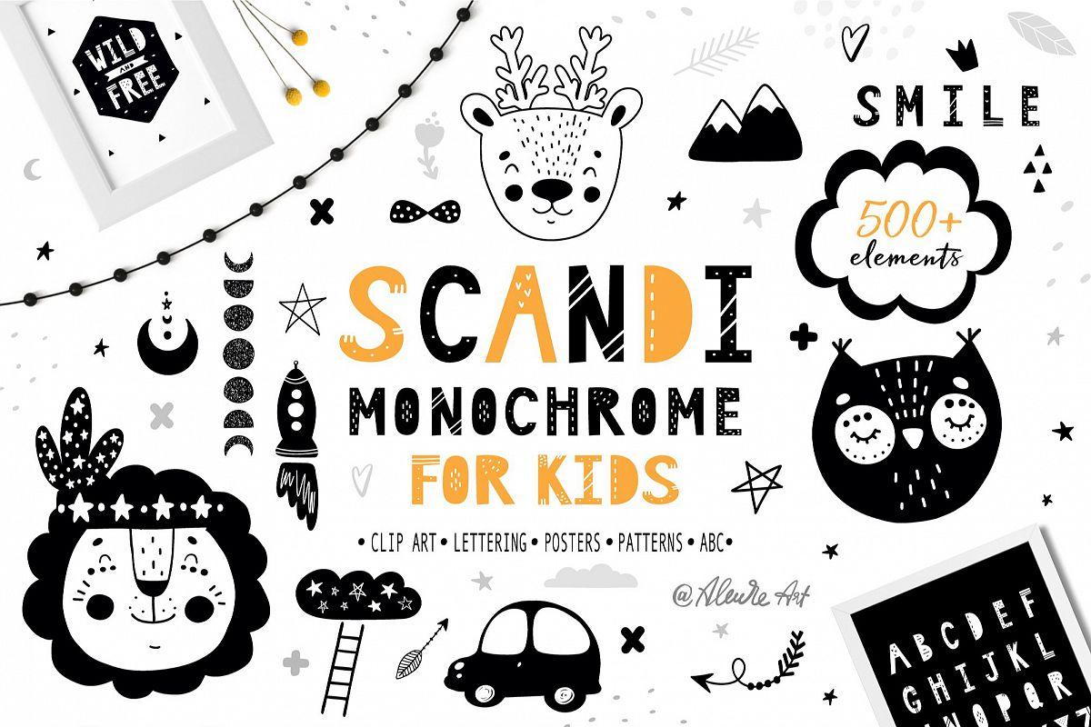 Scandinavian Monochrome for kids example image 1