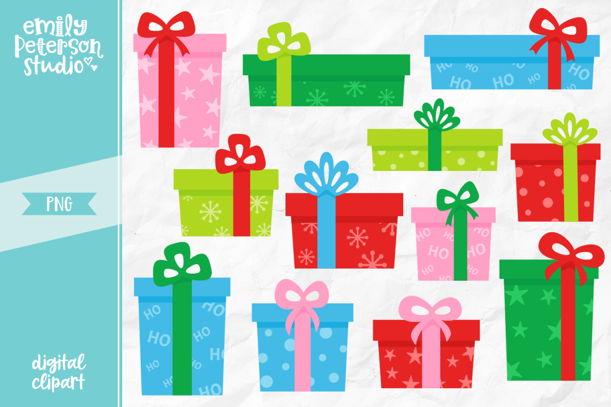 Christmas Presents Png.Christmas Presents Clipart Illustration Png