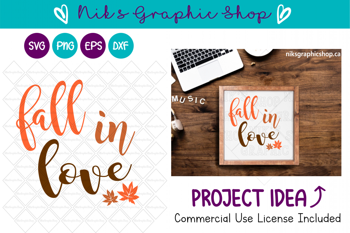 Fall Svg, Fall in Love Svg, Love Svg, Fall Sign Svg example image 1