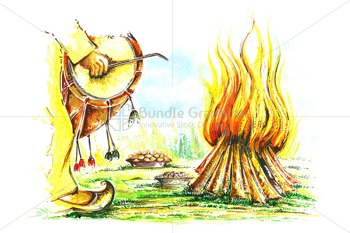 Painting of Punjabi Festival Lohri example image 1
