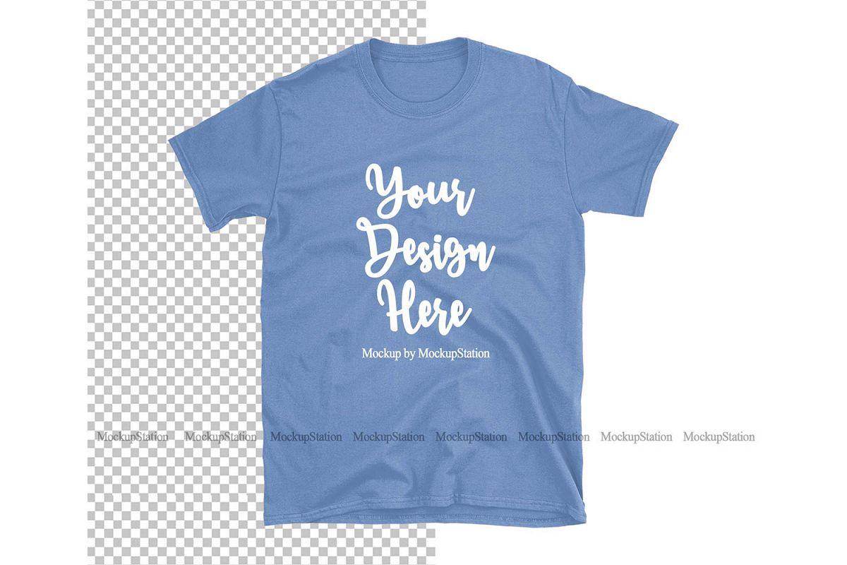 Carolina Blue Gildan TShirt Mock Up Transparent Background example image 1