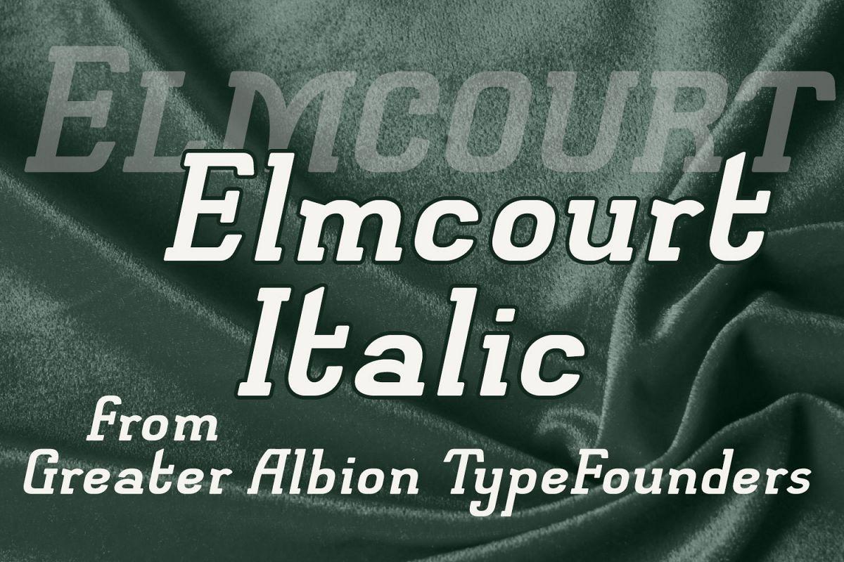 Elmcourt Italic example image 1