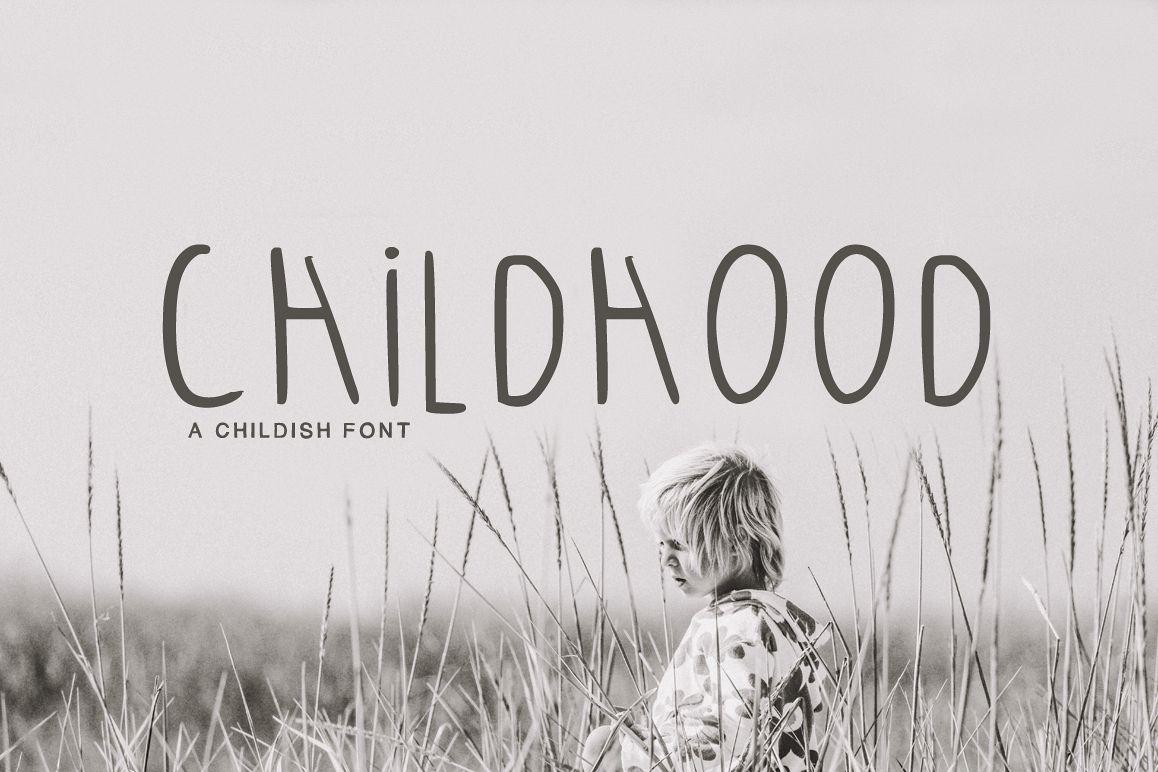 Childhood Font example image 1