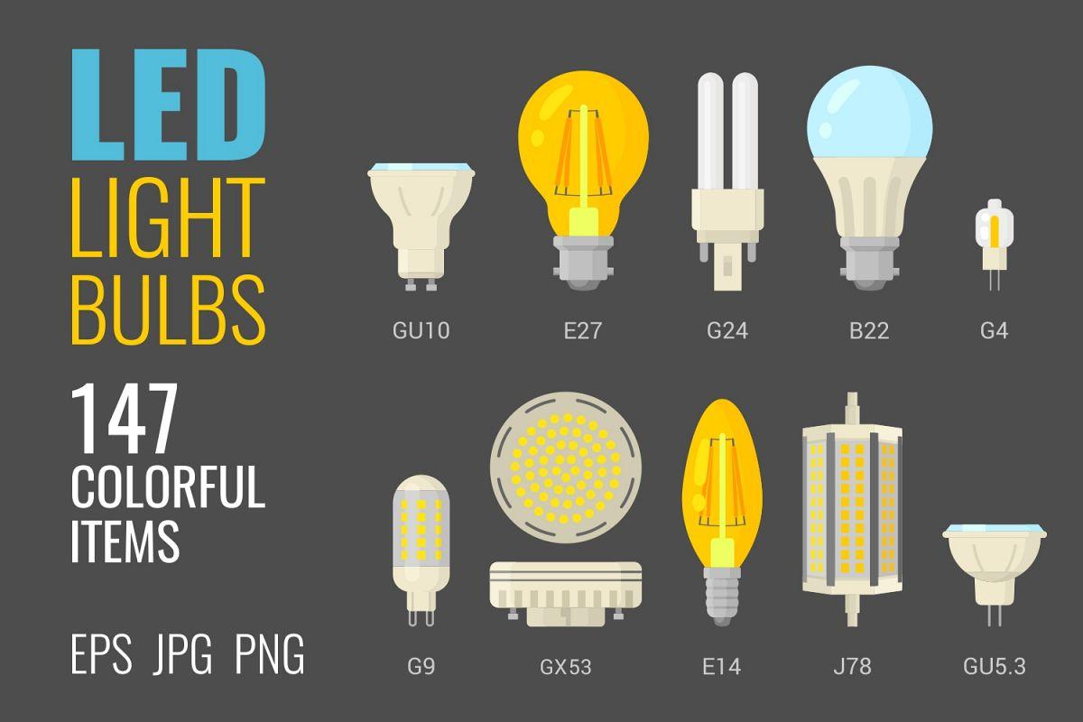 147 colorful LED light bulbs example image 1