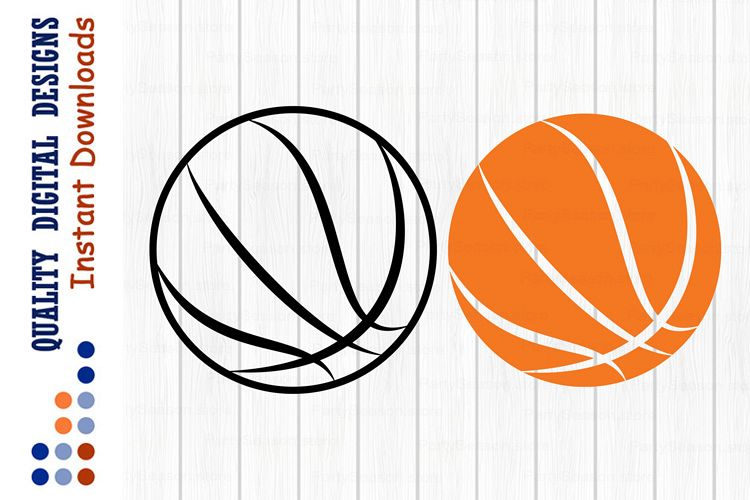 Basketball ball svg Sports Ball clipart svg example image 1