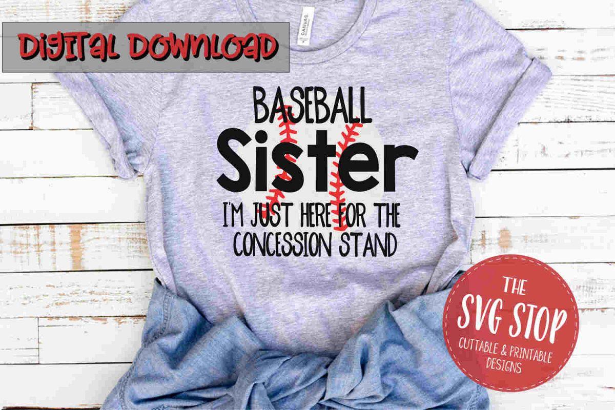 Baseball Sister -SVG, PNG, DXF example image 1
