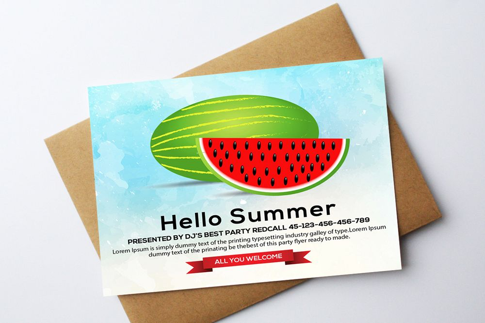 Summer Picnic Fun Party Card example image 1