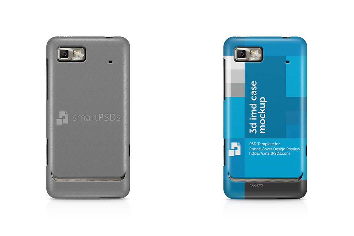 Motorola Motoluxe XT615 3d IMD Mobile Case Design Mockup 2012 example image 1