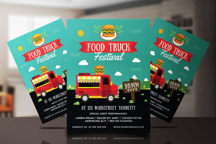 FOOD TRUCK FESTIVAL FLYER 1 example image 1