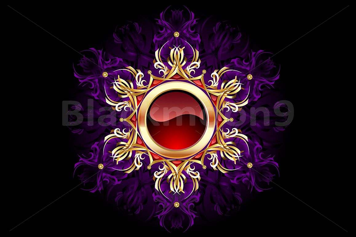 Round Jewelry Banner on Purple Background example image 1