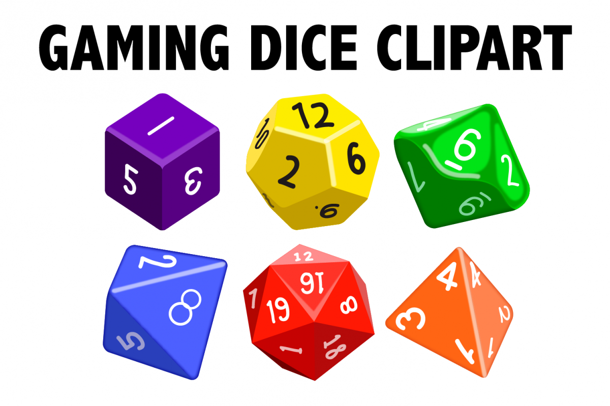 Gaming Dice Clipart example image 1
