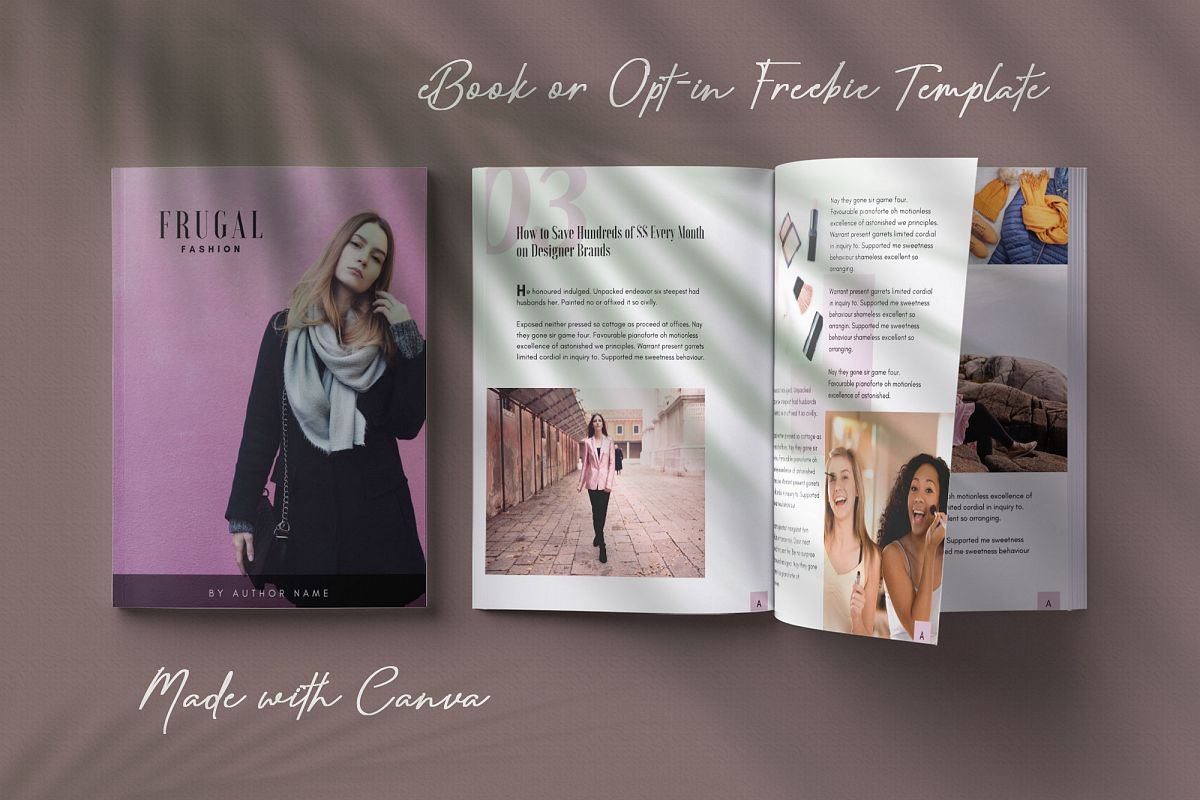 eBook or Opt-in Freebie Canva template | Ivy example image 1