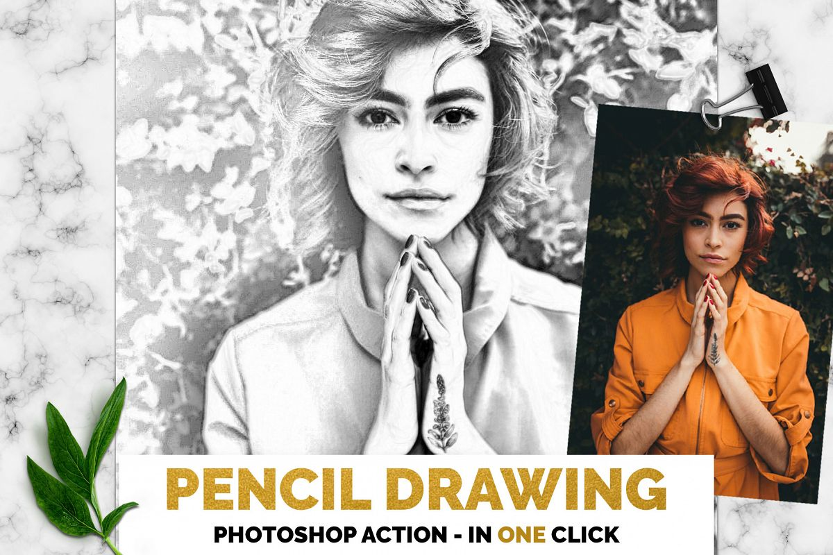 Pencil Drawing Photoshop Action example image 1