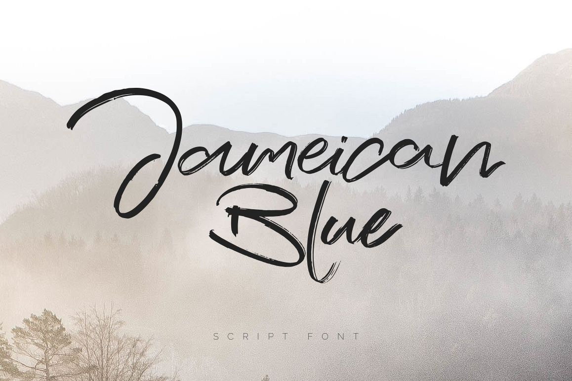 Jameican Blue Script Font example image 1