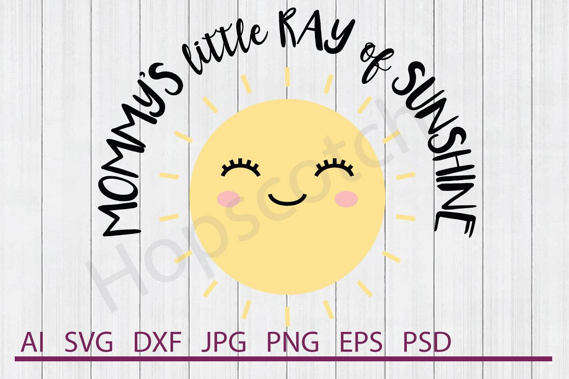Sun SVG, Little Ray of Sunshine SVG, DXF File, Cuttable File