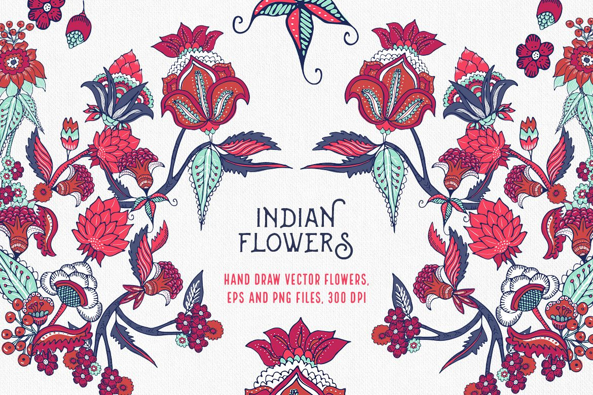 Indian Flowers example image 1