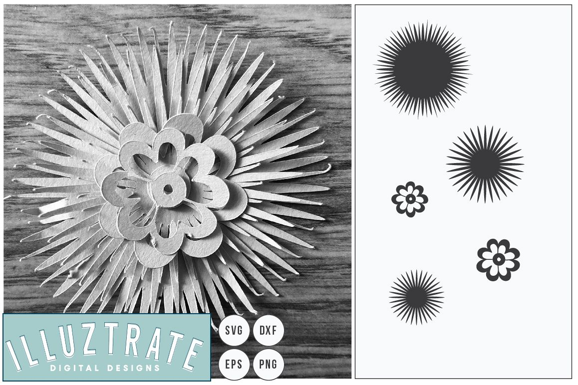 Layered Flower SVG   Paper Cutting Template, Flower Template example image 1