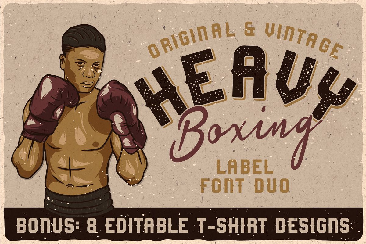 Heavy Boxing. Font Duo example image 1