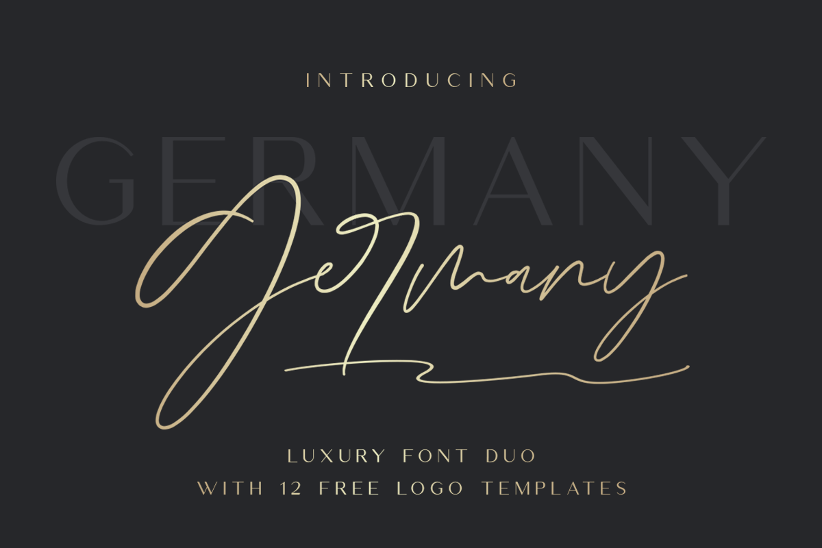 Germany - Luxury Font Duo example image 1