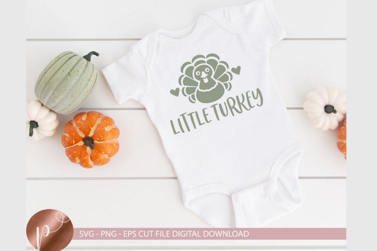 Little Turkey Svg Png Eps, Thanksgiving Turkey Cut File example image 1