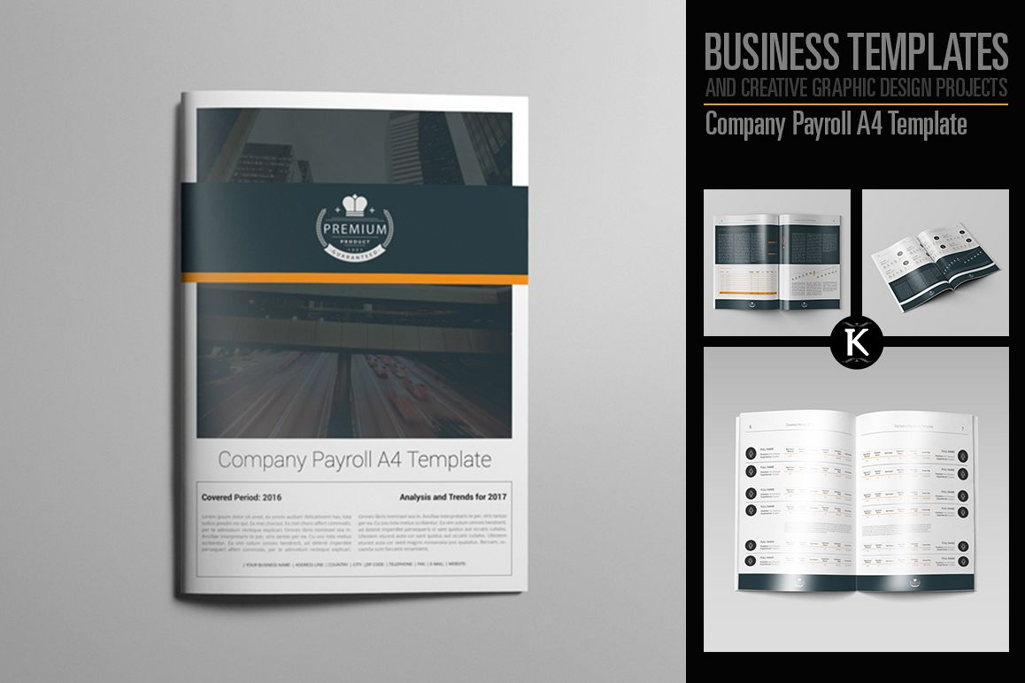 Company Payroll A4 Template example image 1