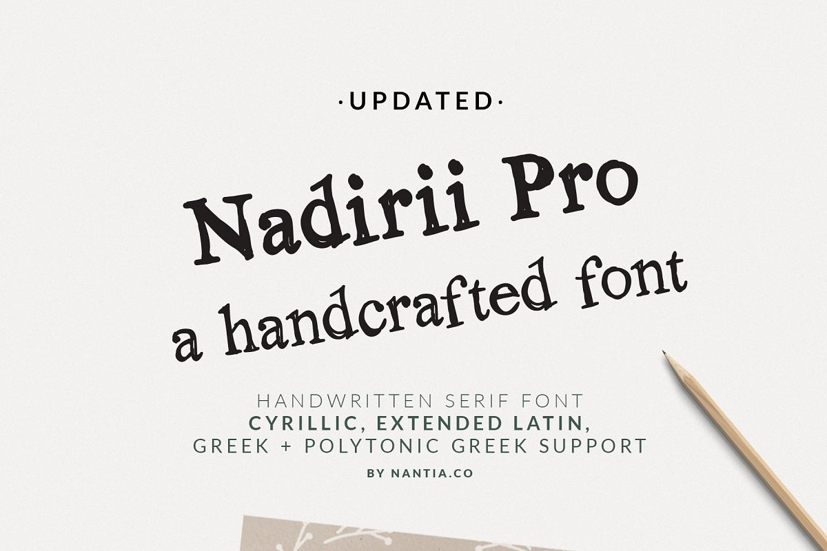 Nadirii Pro Font Greek, Cyrillic Font example image 1