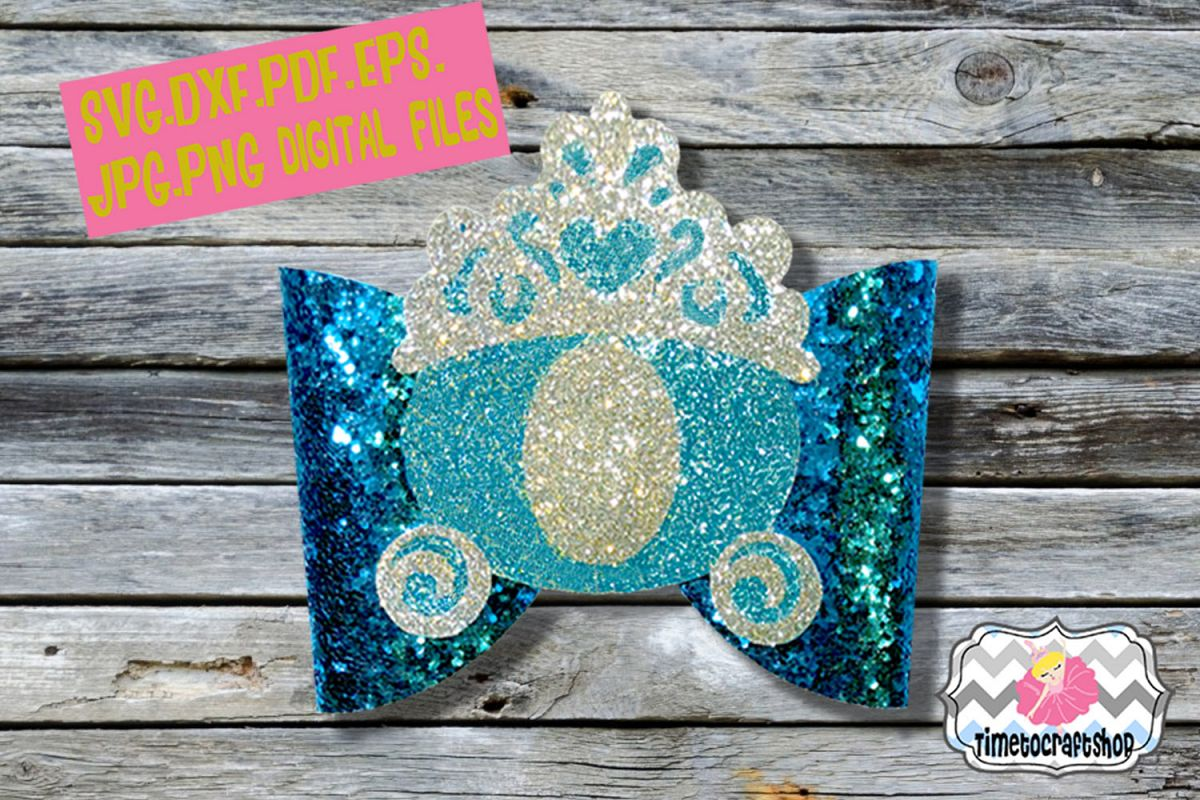 Princess Carriage Cinderella Inspired Hair Bow Template