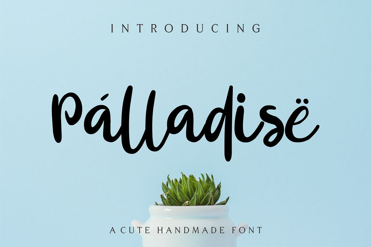 Palladise Cute Font example image 1