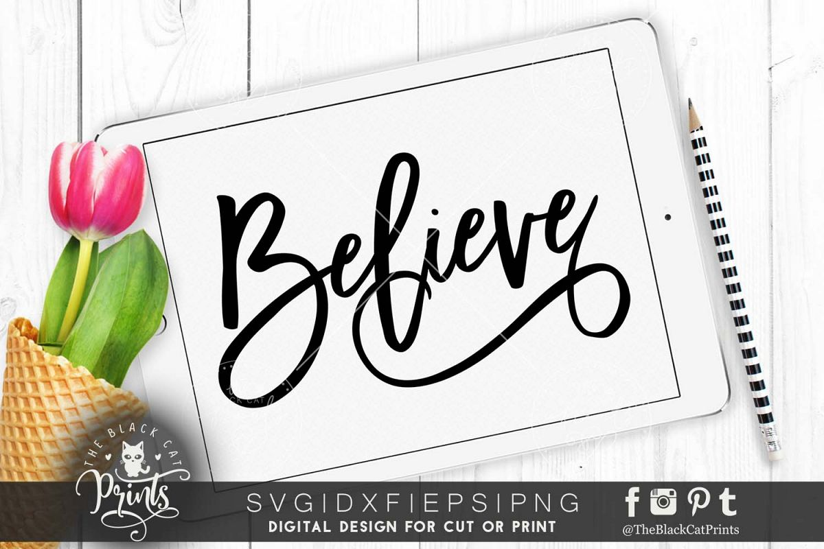 Believe SVG EPS PNG DXF example image 1
