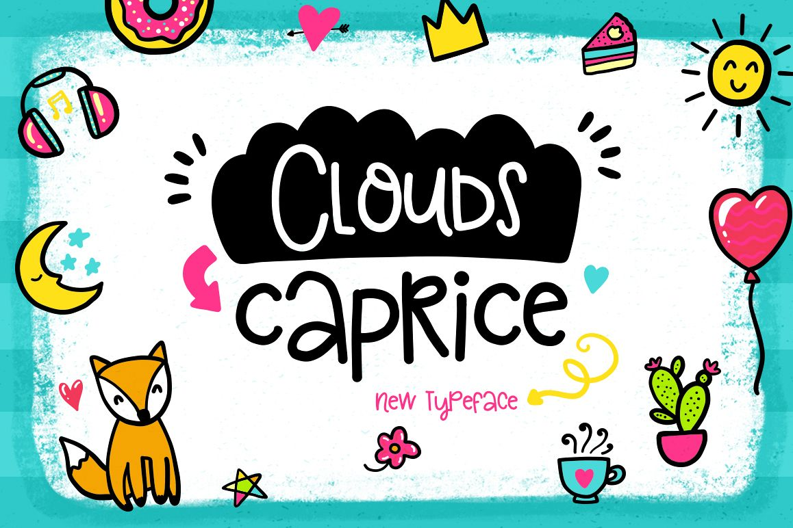 Clouds Caprice Typeface example image 1