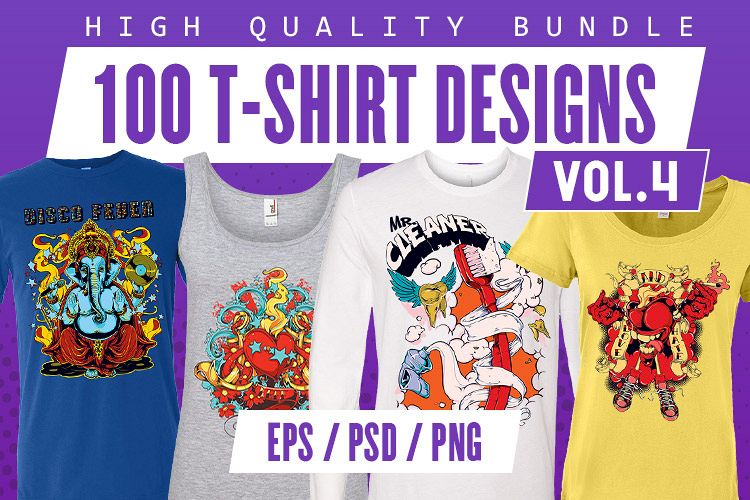 100 T-shirt Designs Vol 4 example image 1
