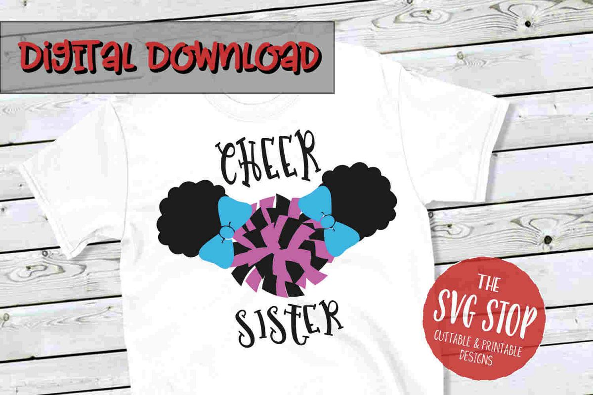 Cheer Sister 2-SVG, PNG, DXF example image 1