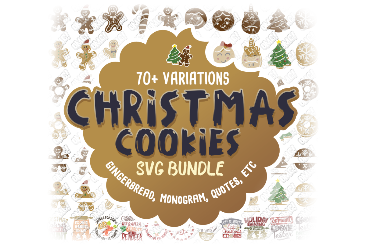 Christmas Cookies SVG Bundle in SVG, DXF, PNG, EPS, JPEG example image 1