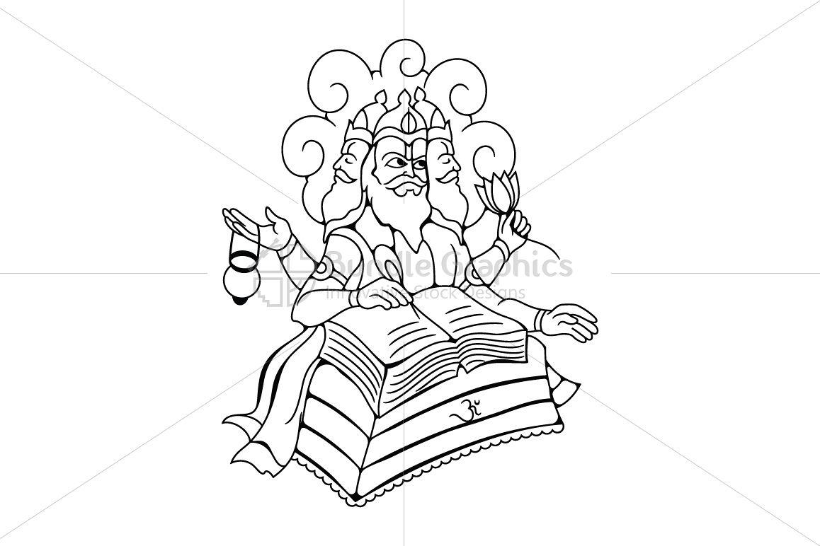 Lord Brahma - Illustration example image 1