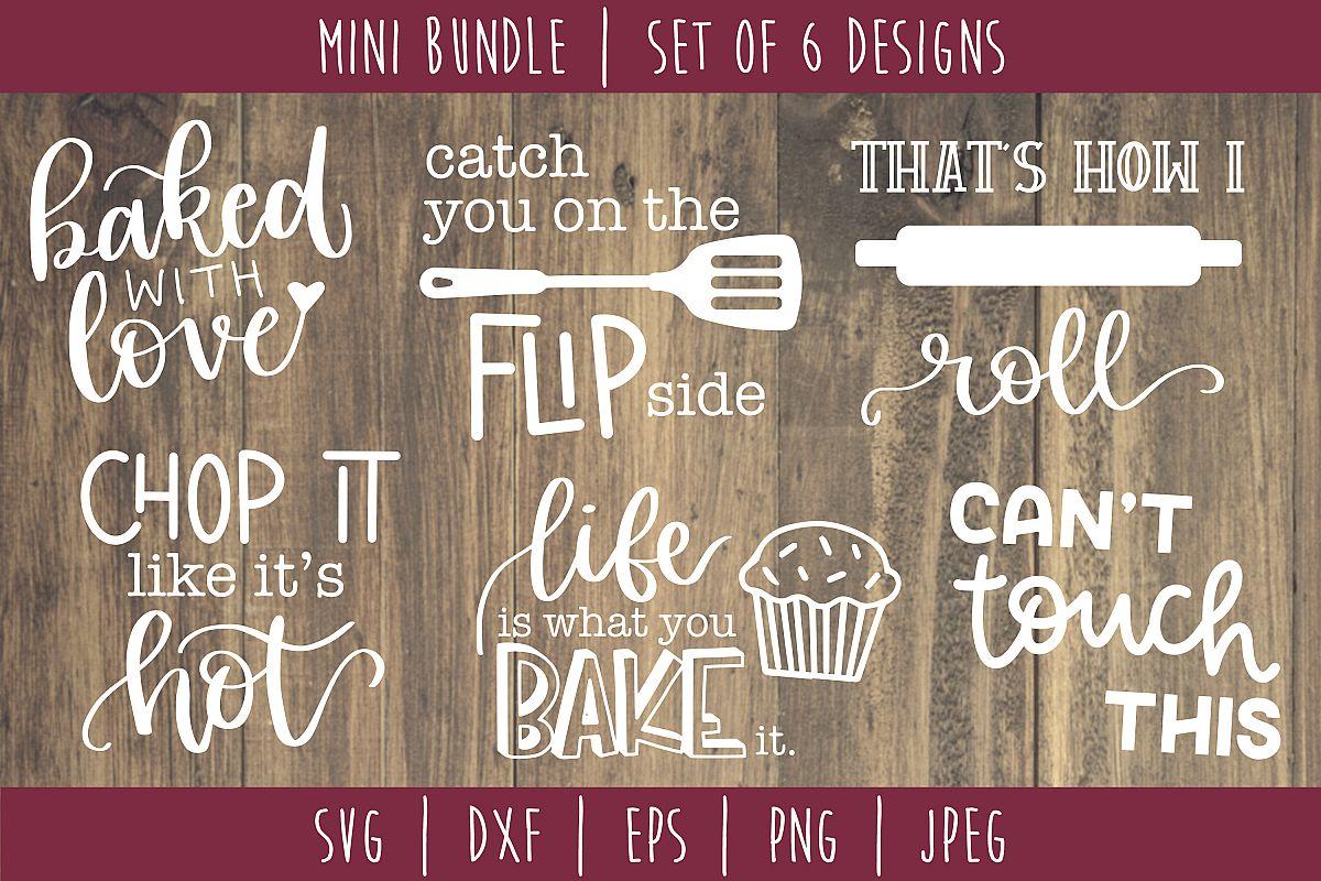 Kitchen Cooking Bundle Set of 6 - SVG example image 1