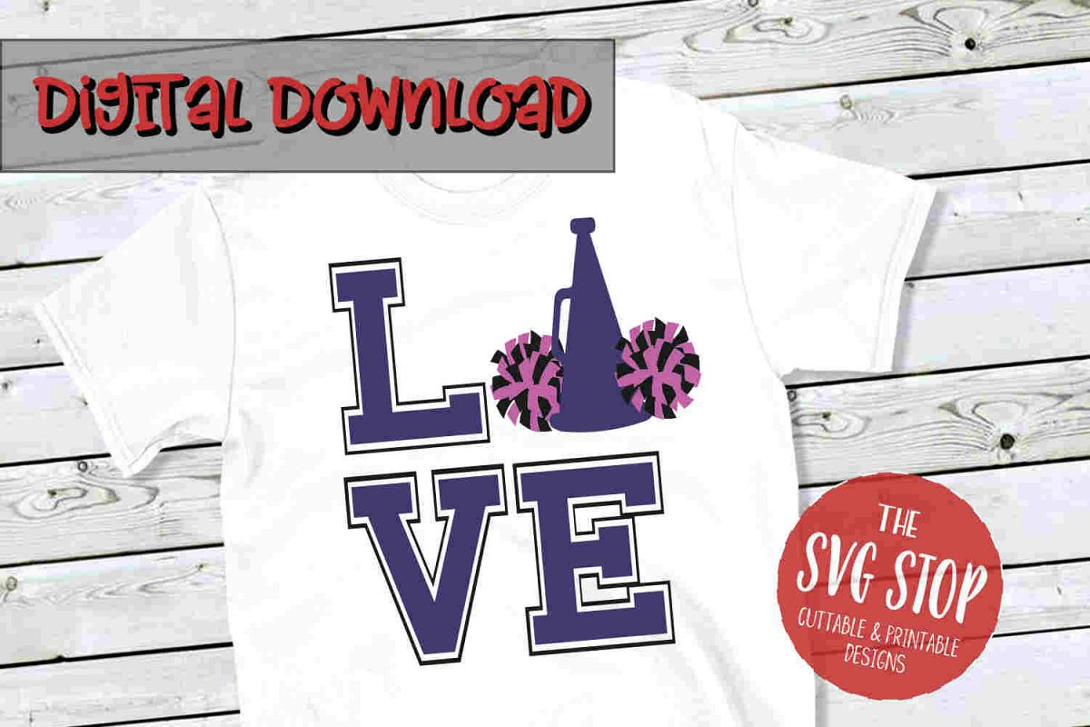 Love Cheer 2 -SVG, PNG, DXF example image 1