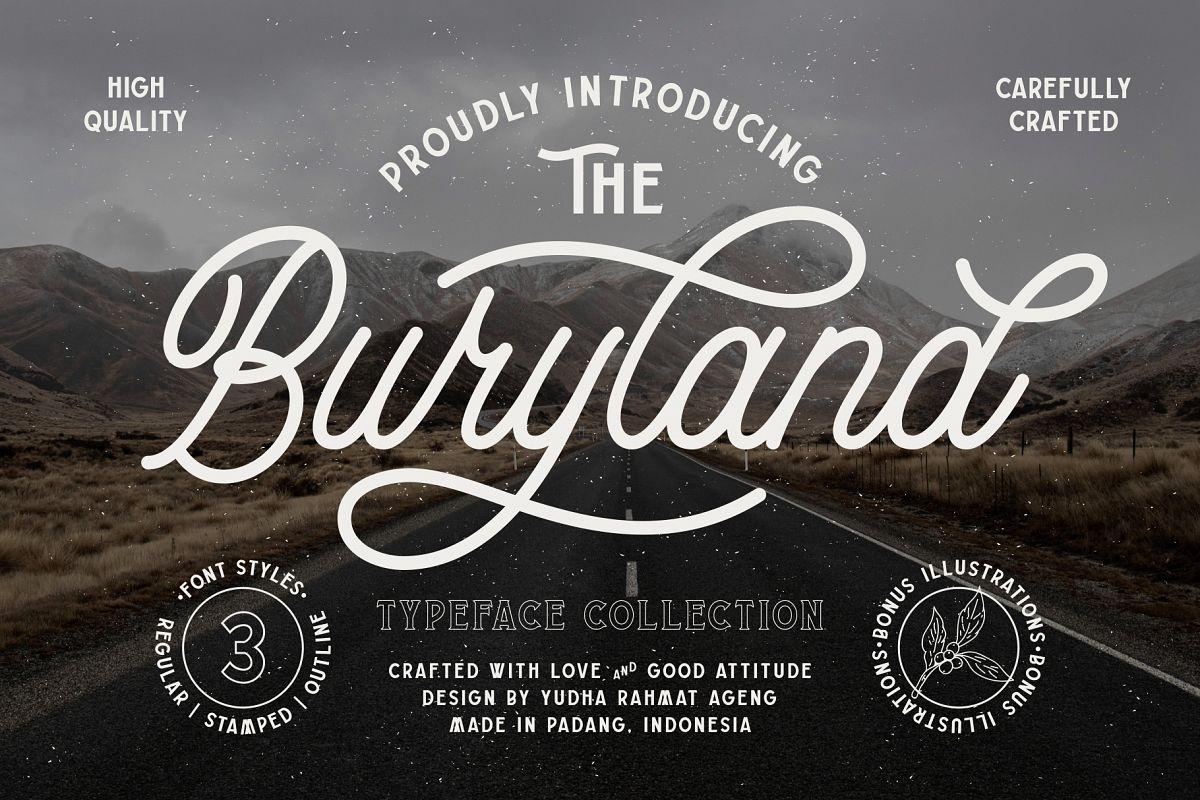 Buryland Typeface Collection example image 1