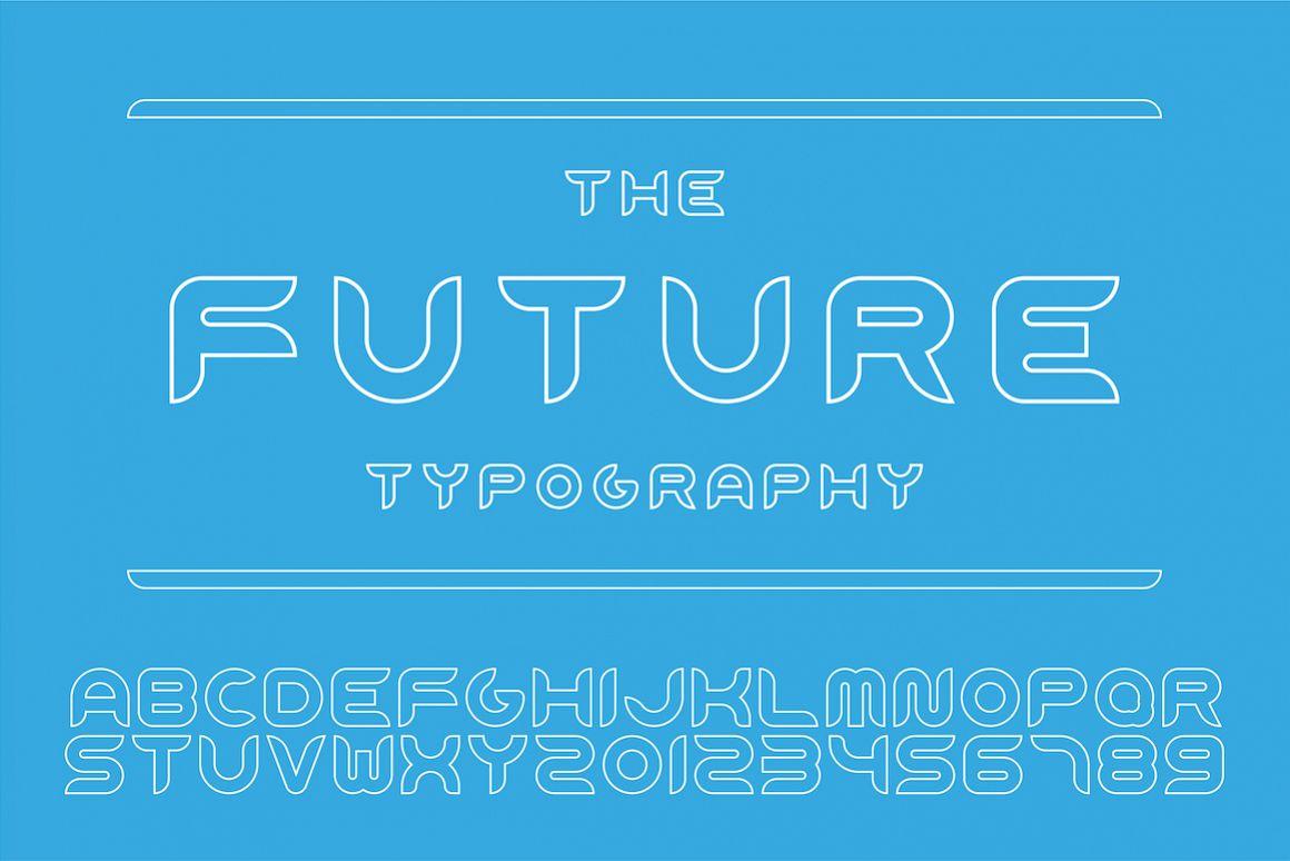 Modern decorative english alphabet example image 1