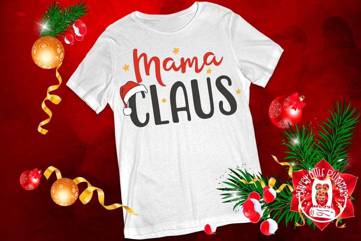Mama Claus - Christmas SVG for mom mommy mother example image 1