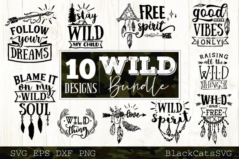 Wild SVG bundle 10 designs Boho SVG bundle vol 2 example image 1