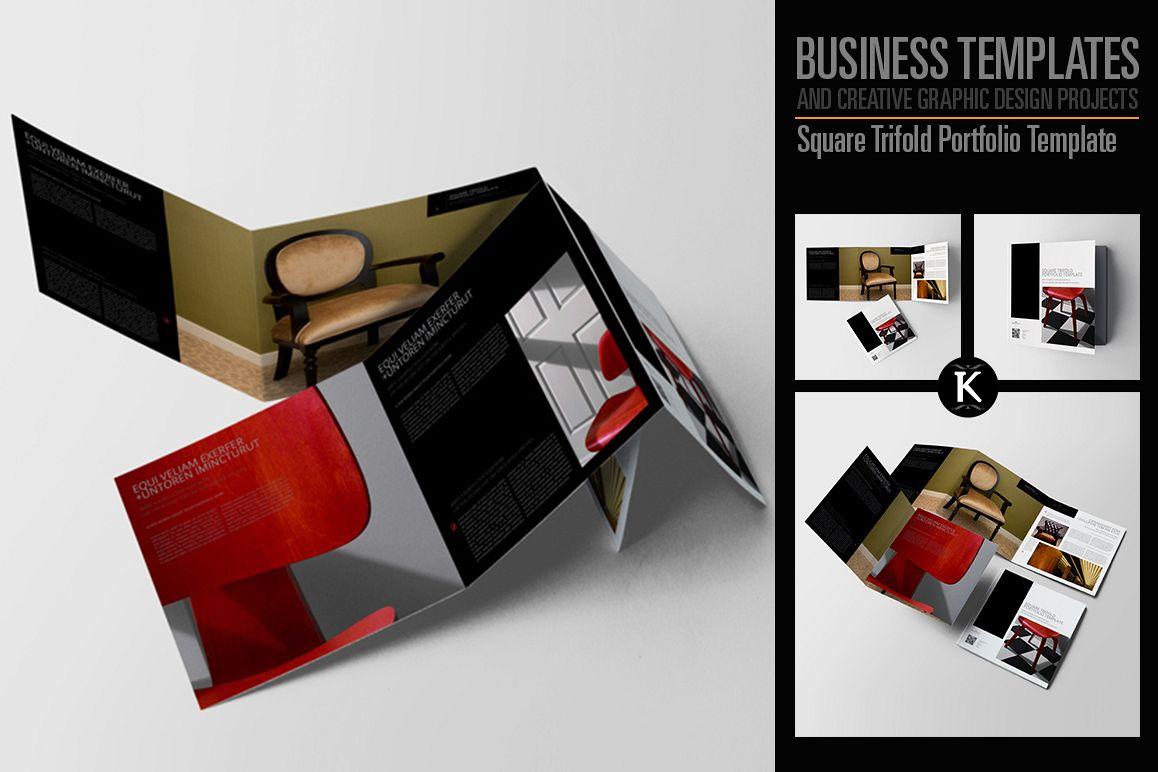 Square Trifold Portfolio Template example image 1