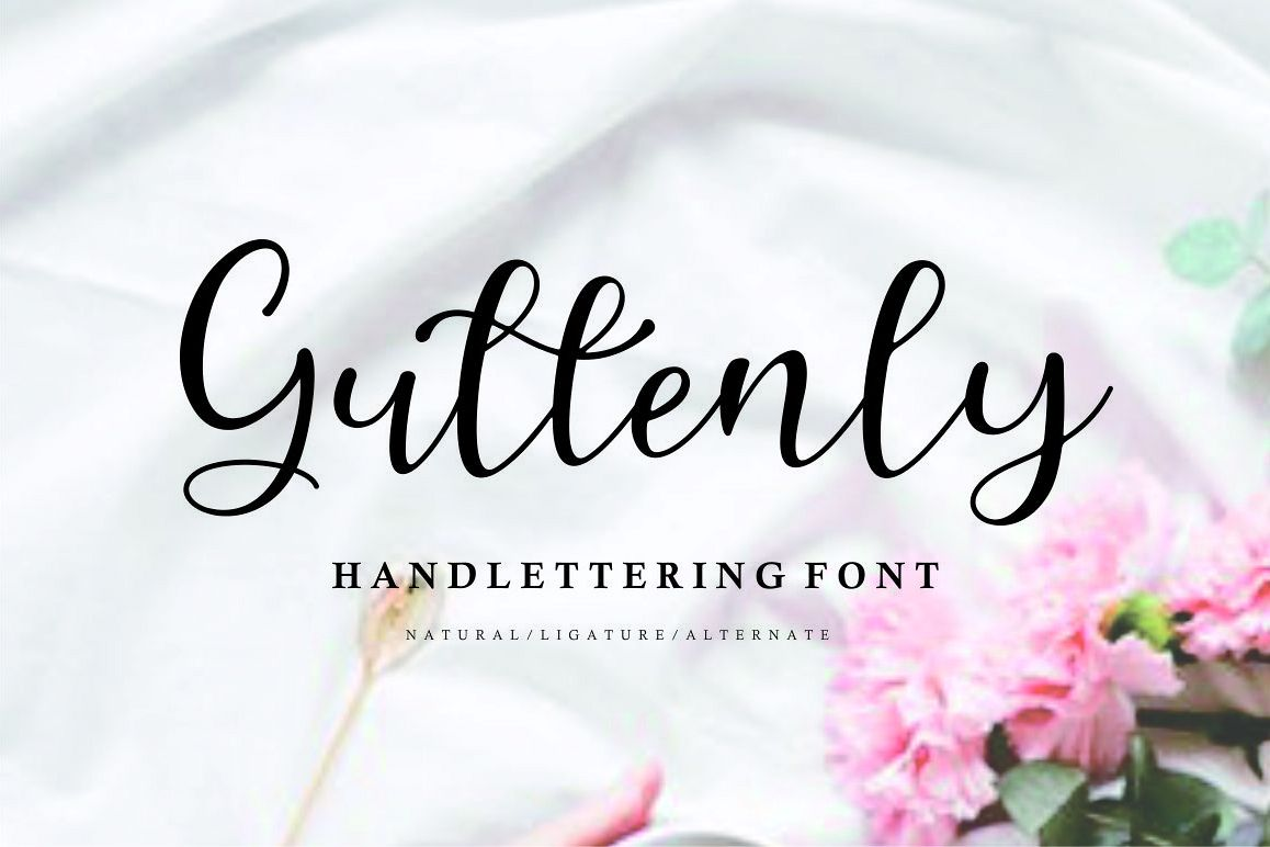 Guttenly // handlettering font example image 1