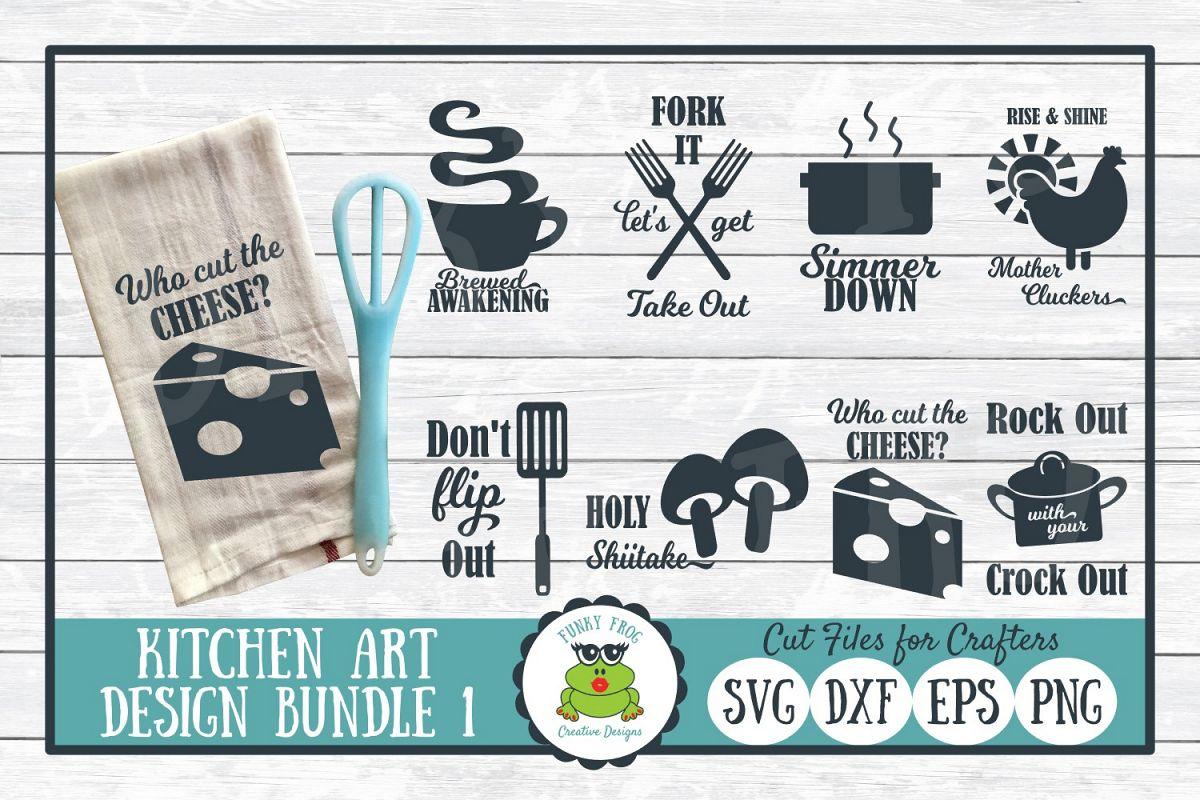 Kitchen Art Design Bundle 1- SVG Cut Files for Crafter example image 1