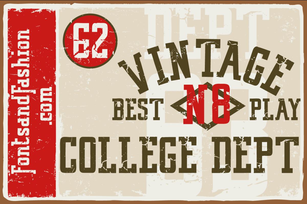 Vintage College Dept_Worn example image 1