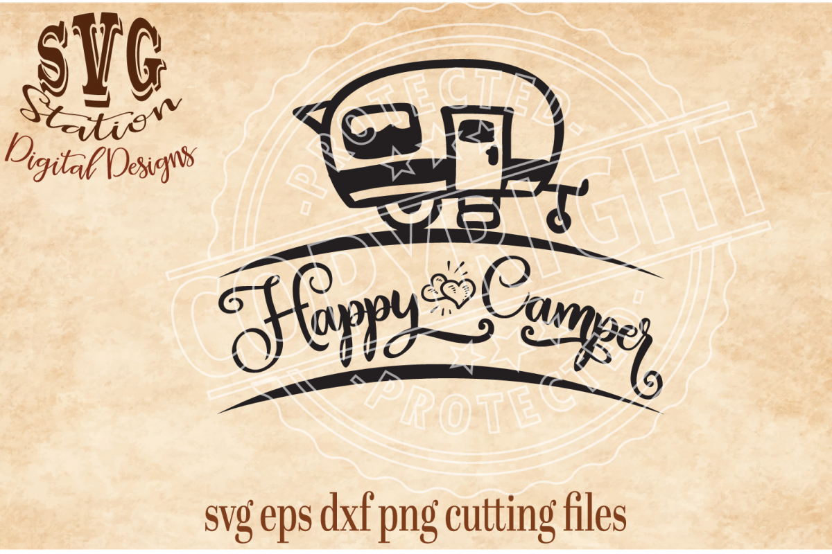 Happy Camper Cut File example image 1