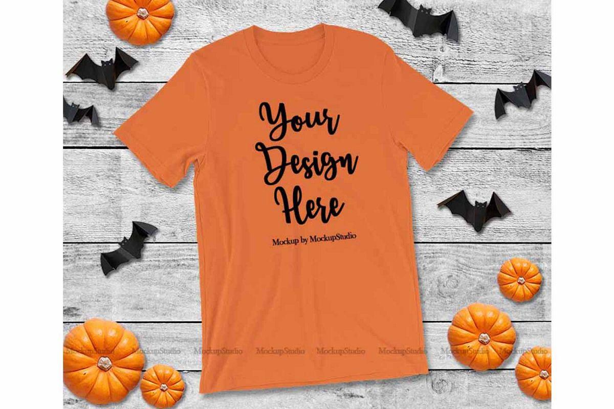 bc996f630a3054 Halloween Orange T-Shirt Mock Up