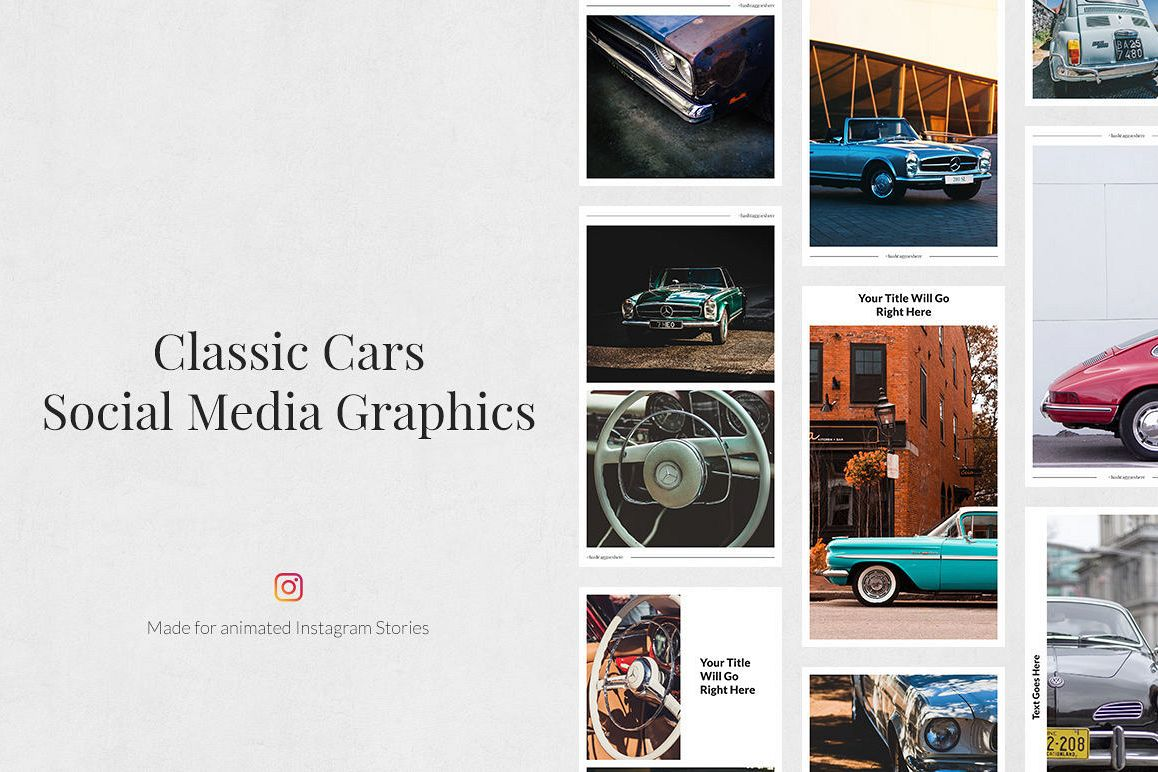 Classic Cars Animated Instagram Stories example image 1
