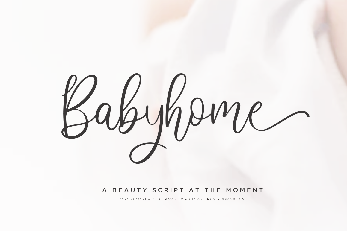 Babyhome Elegant Script in Two Version example image 1