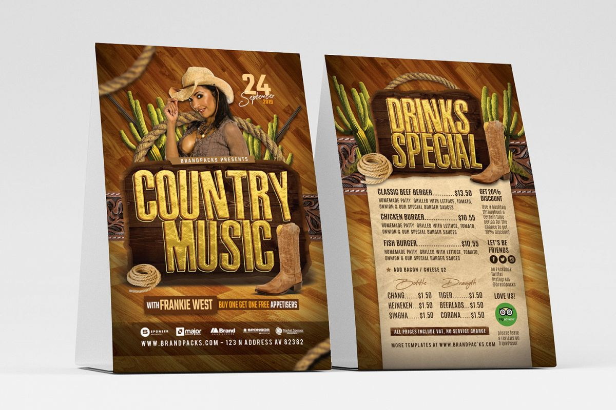 Country Music Flyer Template example image 1