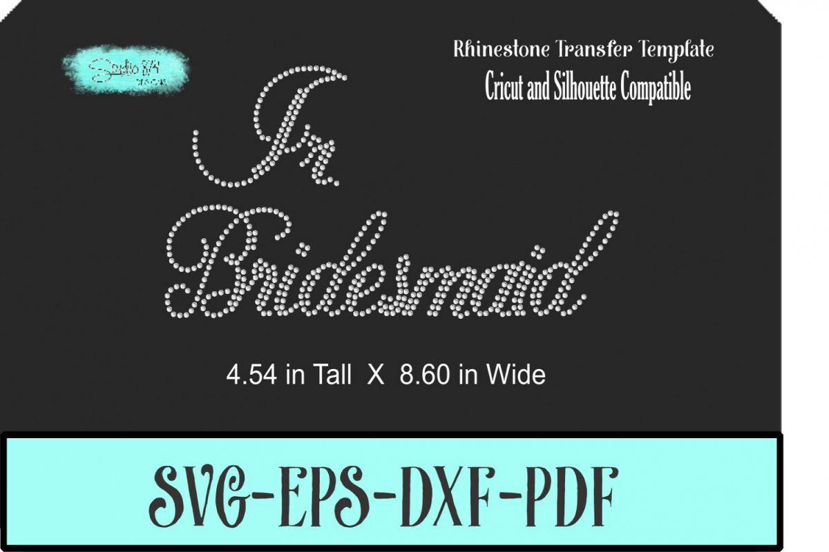 Wedding Rhinestone Template - Jr. Bridesmaid example image 1